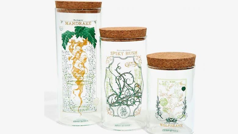 harry potter herbology storage jars