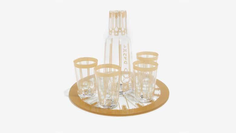 lando calrissian glass set