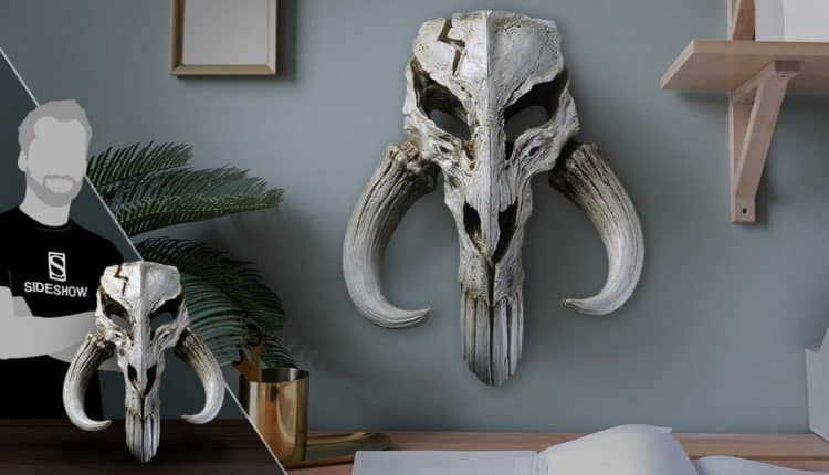 Mandalorian Skull Wall Decor Statue by Regal Robot