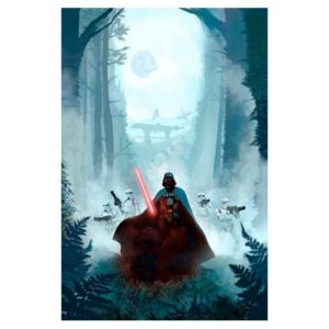 Star Wars Vengeful Pursuit by Jeremy Saliba Canvas Art Print
