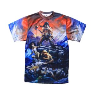 sublimated fire and ice shirt