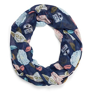 Yoda and Friends Floral Infinity Scarf