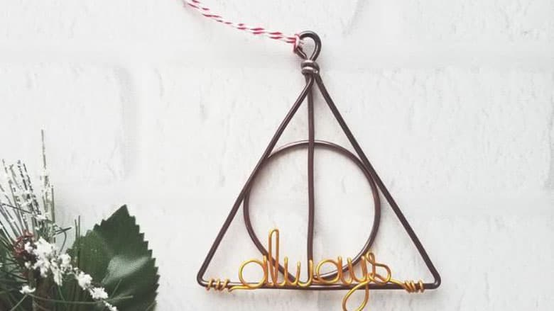 Deathly Hallows Wire Ornament