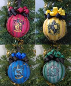 Harry Potter Houses Cloth/Ball Ornaments (4 Pack)