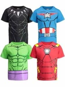 Marvel Avengers Boys 4 Pack T-Shirts