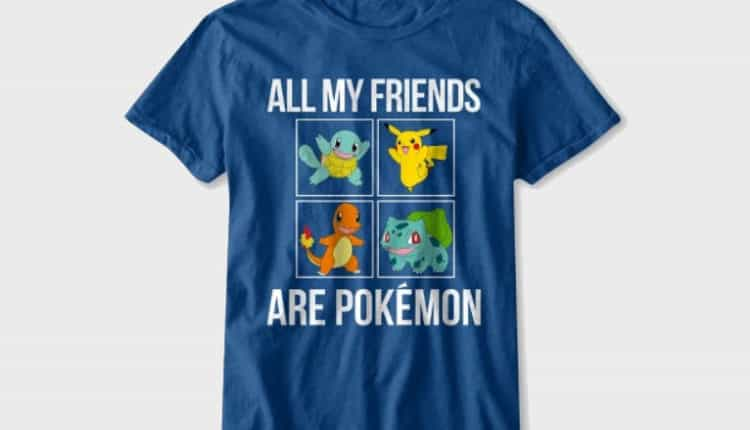 Boys' All My Friends Are Pokémon Short Sleeve Graphic T-Shirt