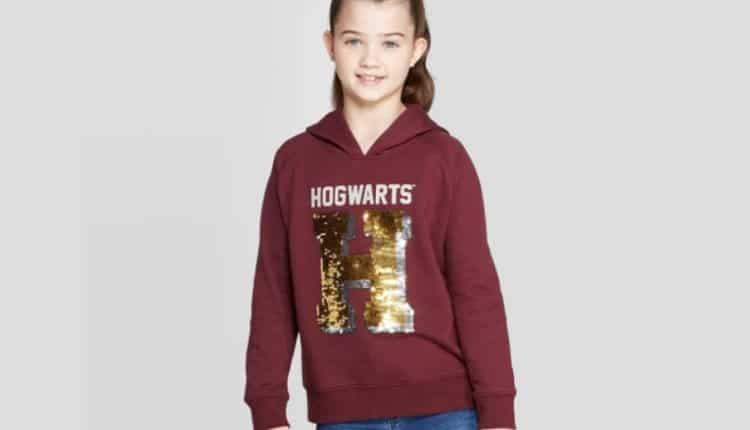 Girls' Harry Potter Hogwarts Flip Sequin Hoodie