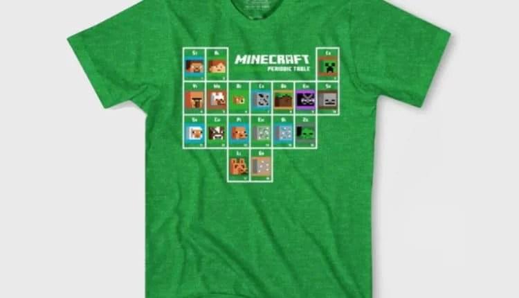 Boys' Minecraft Periodic Table Short Sleeve T-Shirt
