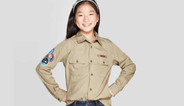 Girls' NASA Long Sleeve Button-Up Shirt