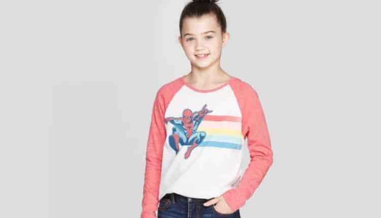 Girls' Spider-Man Long Sleeve Raglan T-Shirt