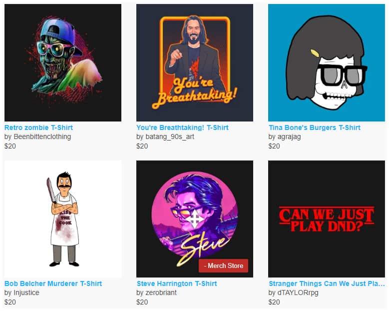 Nerdy T-Shirts – $20