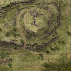 maps dnd map battle hill dungeon rpg camp fantasy down raider pathfinder dark deviantart hotdq hero339 maker 5e wilderness tiles