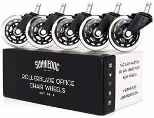 office chair rollerblade wheels used church chairs best caster reviews