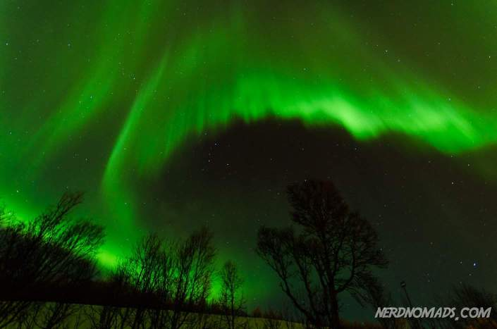 Northern Lights can look similar to curtains