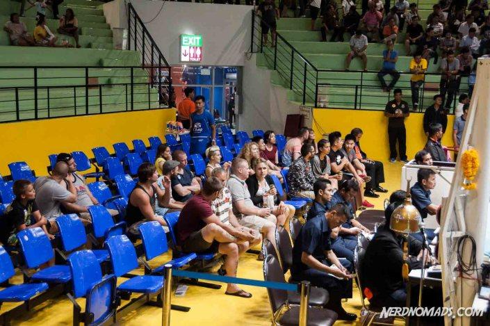 VIP seats next to the ring at Lumpinee Stadium