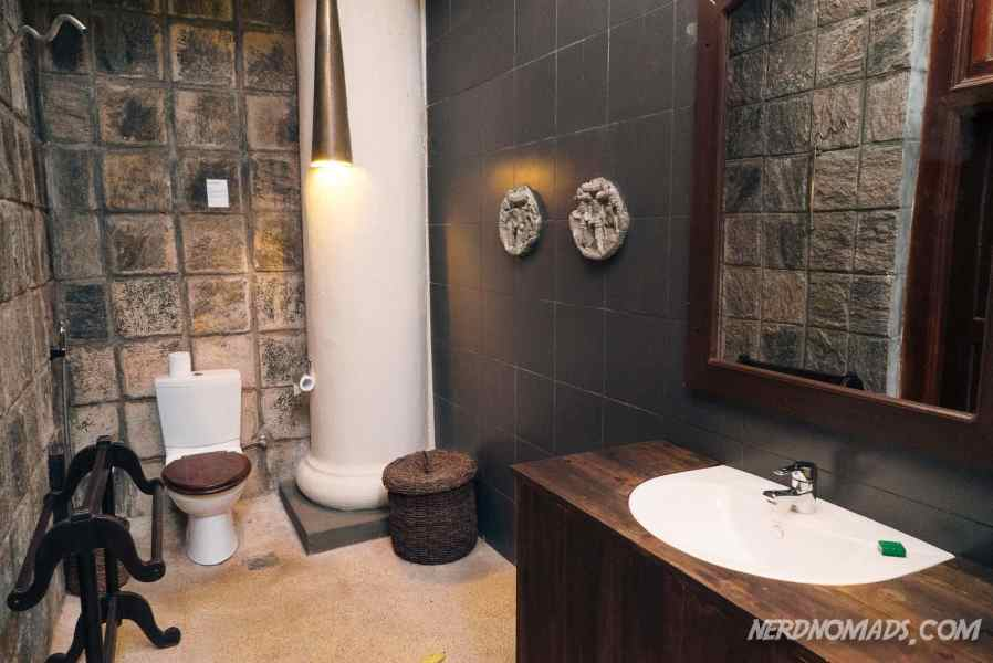 Our cool bathroom at the Admiral Cheng Ho Suite