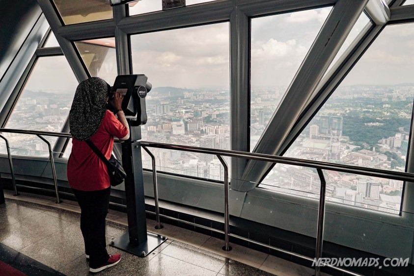 KL Tower Observation Deck (Petronas Twin Towers vs KL Tower)