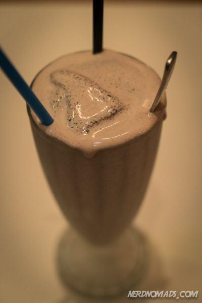Mmmmm, tasty chocolate milkshake at The Great Burger
