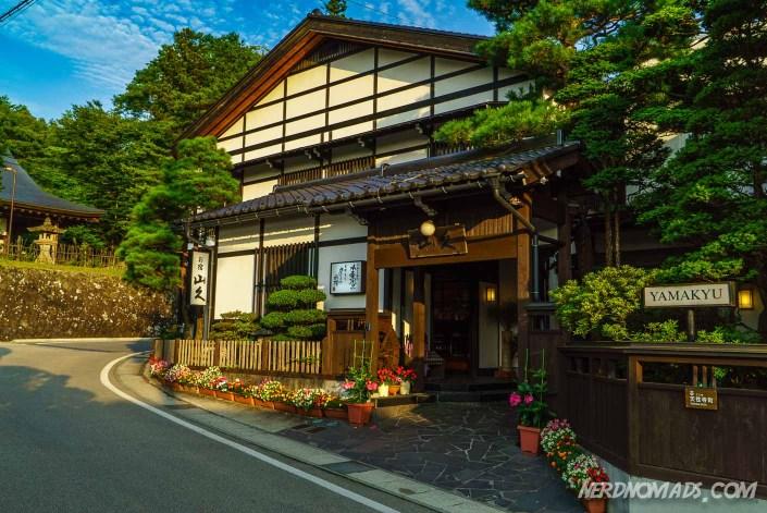 The Yamakyu Ryokan in Takayama where we stayed one night
