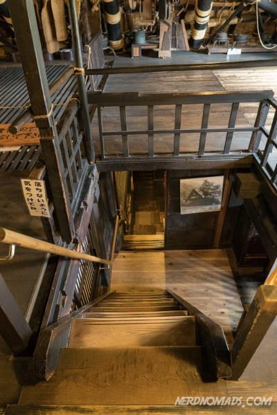 Steep stairs in the Nagase House