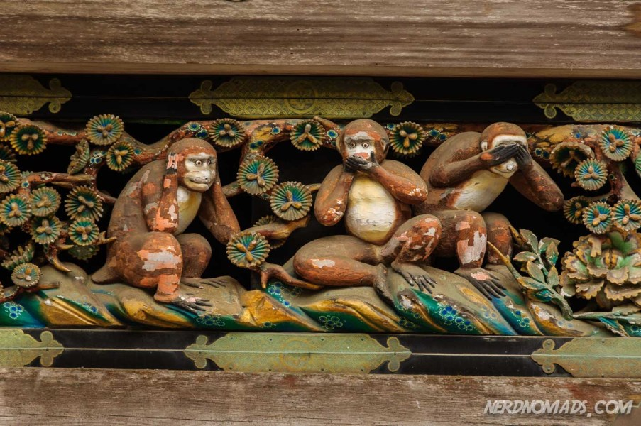"""Hear no evil, See no evil and Speak no evil"" monkeys"