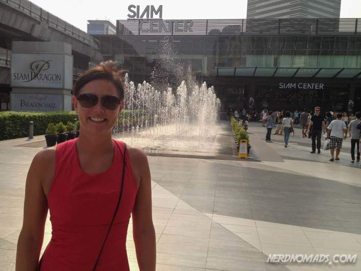 Maria outside Siam shopping center