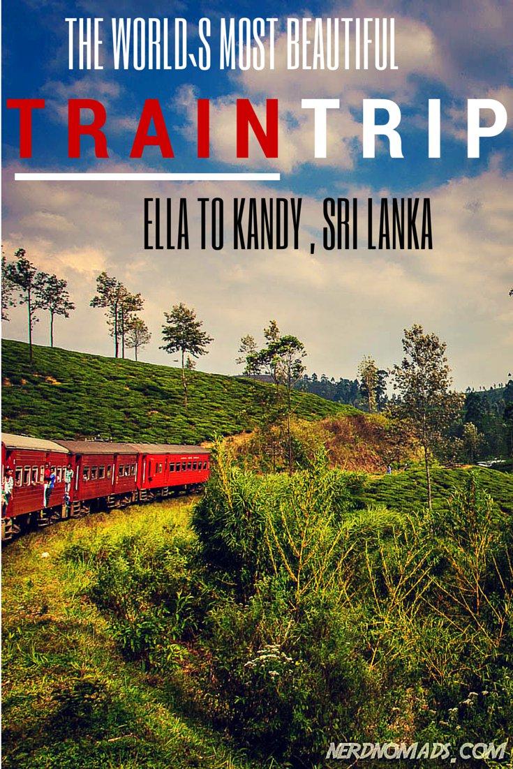 World`s Most Beautiful Train Trip? Sri Lanka Train Travel