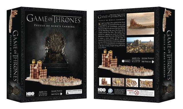 il trono di spade puzzle 3d approdo del re