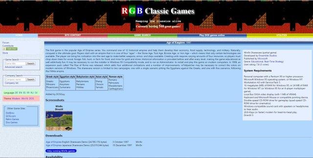 4 siti giochi vecchi per pc rgb classic games