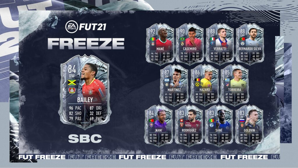 FIFA 21 Bailey FUT Freeze SBC - Ultimate Team - Ex FUTMas