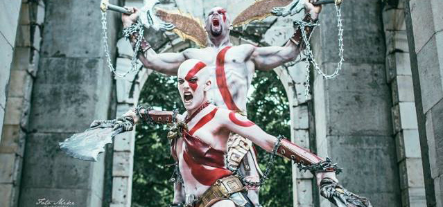 Epic Female And Male God Of War Kratos Cosplay Is Epic Nerd Reactor
