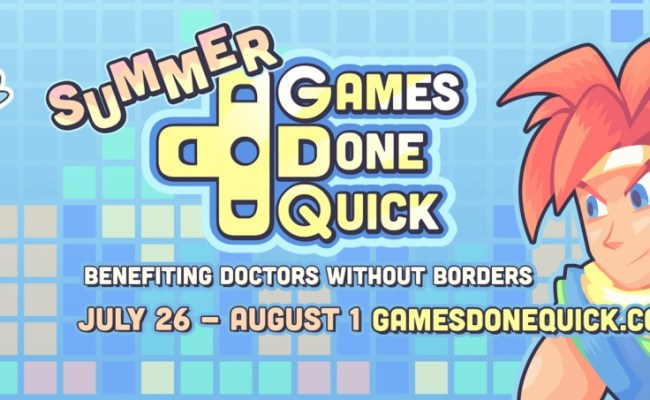 Summer Games Done Quick Is A Week Long Charity
