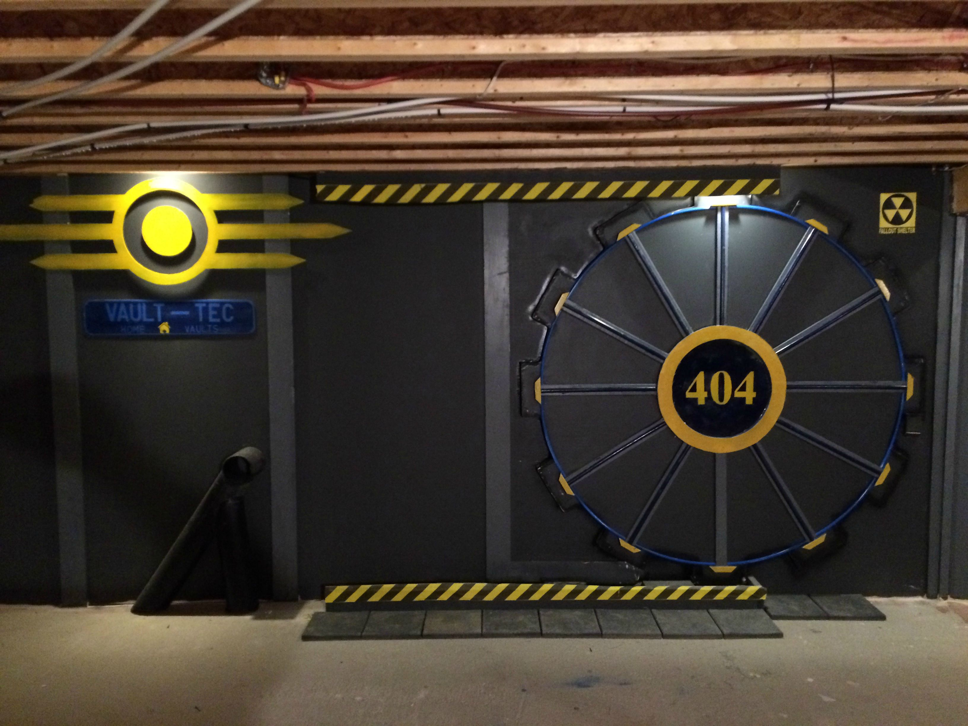 French Fall Wallpaper Fan Builds Real Life Fallout Vault Door For Gaming Room