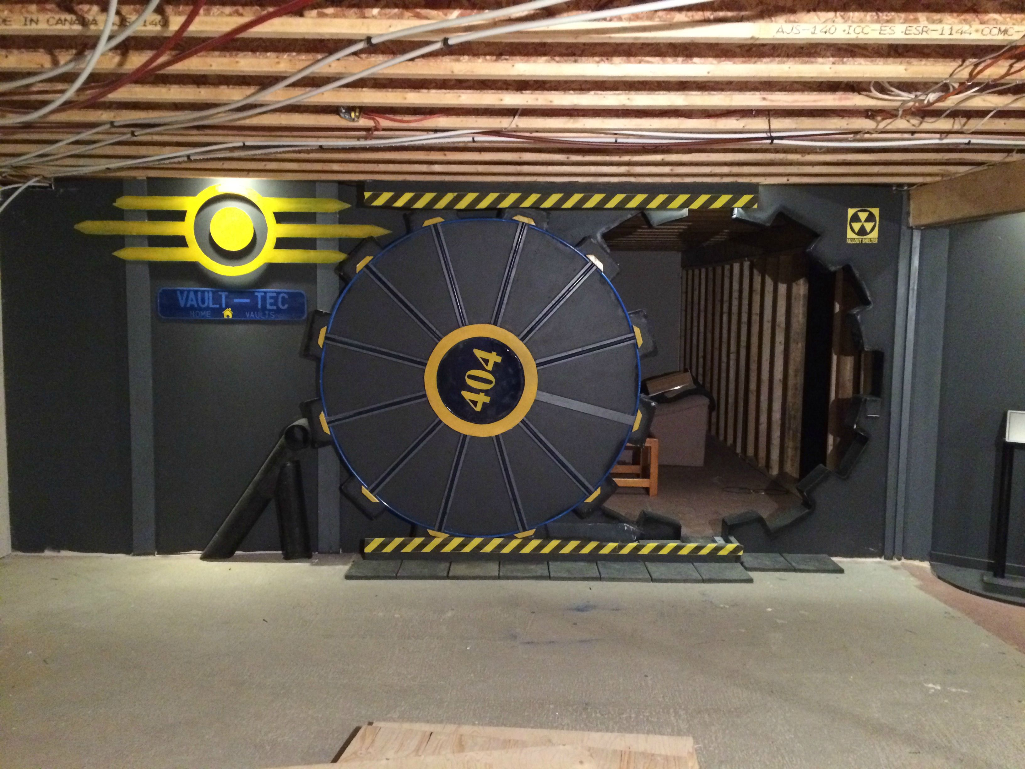 Fall Out Boy Game Wallpaper Fan Builds Real Life Fallout Vault Door For Gaming Room