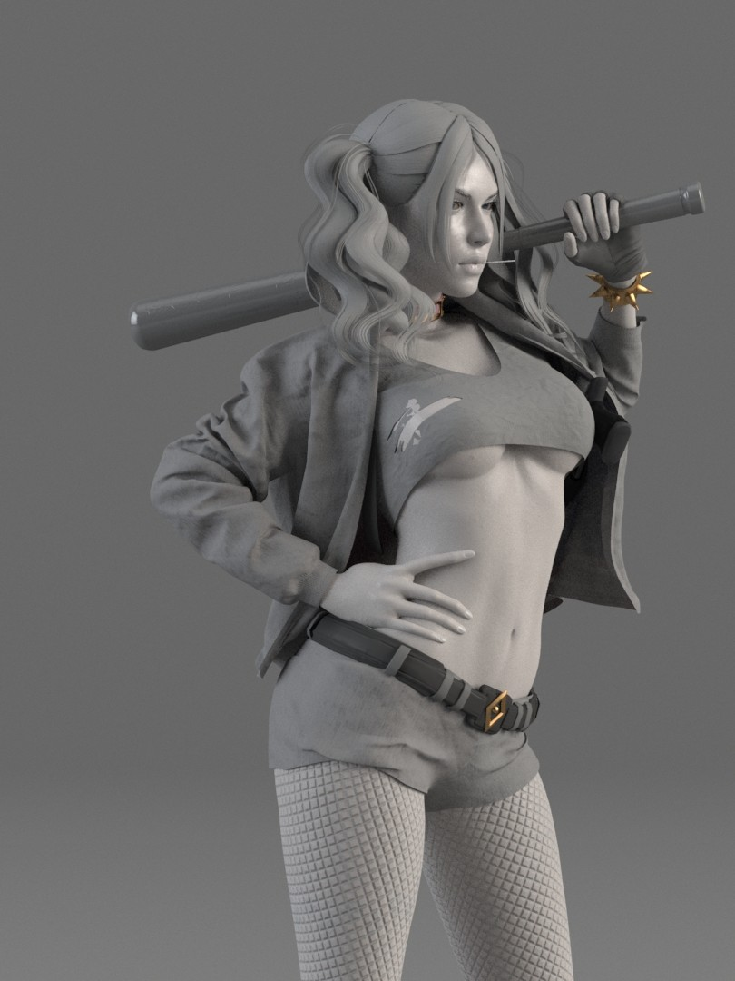 CG artist creates sexier version of Suicide Squads Harley