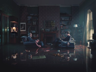 Picture shows: John Watson (MARTIN FREEMAN) and Sherlock Holmes (BENEDICT CUMBERBATCH).