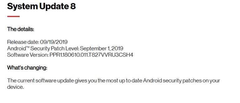 Verizon Tab S3 Android Pie