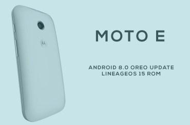 moto e Oreo update LineageOS 15