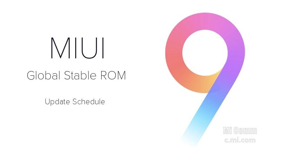 miui9 update list