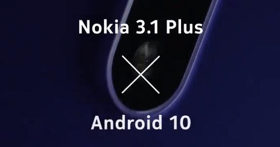 Nokia 3.1 Plus Android 10 update