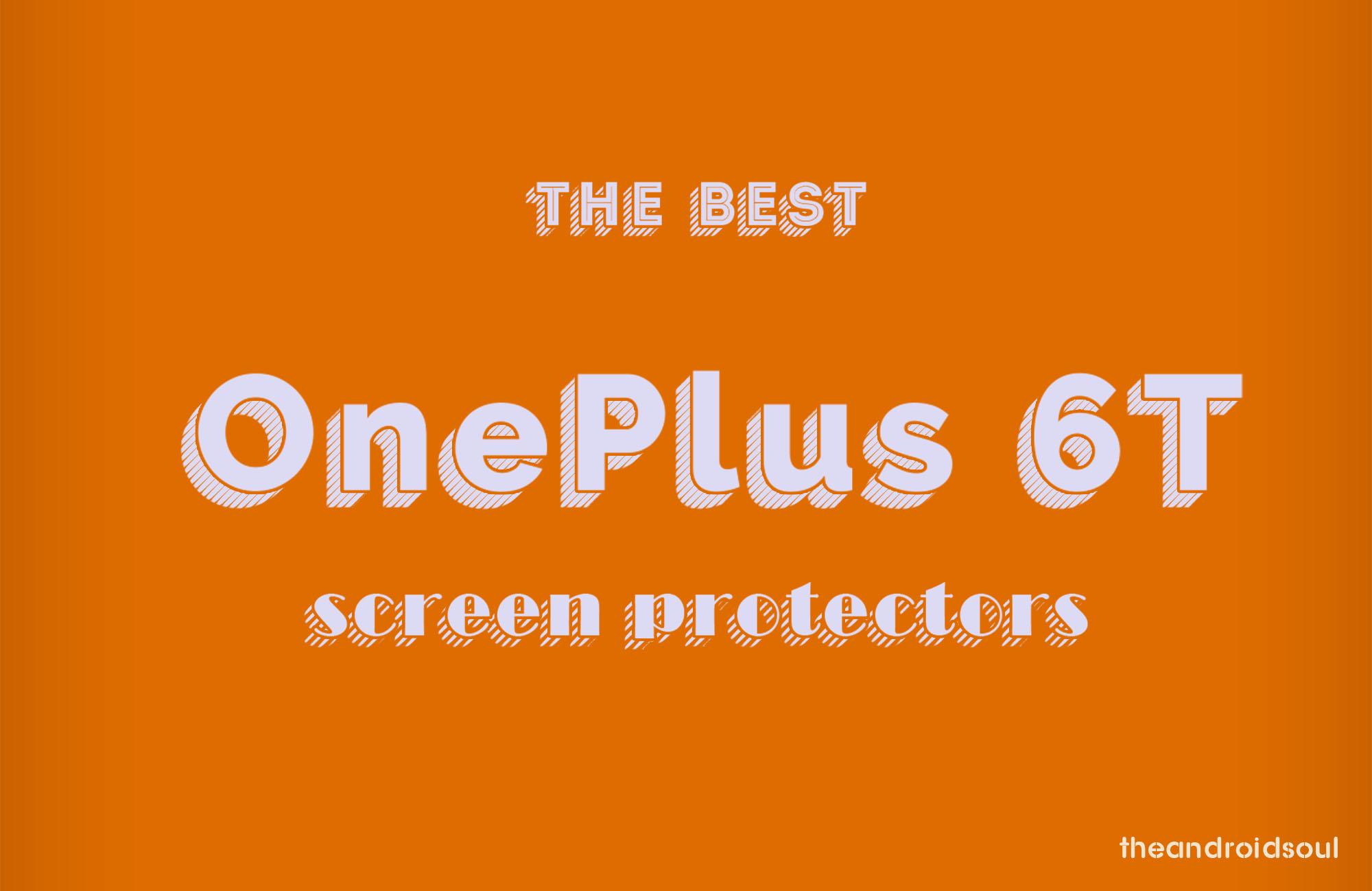 OnePlus 6T screen protectors