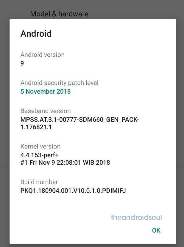 Mi A2 Android Pie OTA released