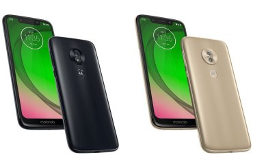 Moto G7 Play press renders - Gold and Black colors