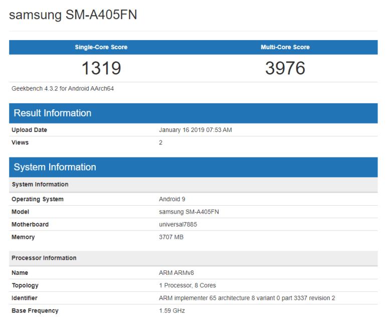 Samsung Galaxy A4 Plus