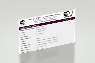 Samsung Galaxy A50 Wi-Fi Alliance