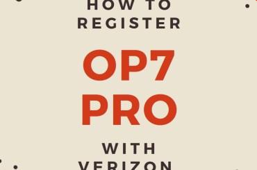 OnePlus 7 Pro register with Verizon