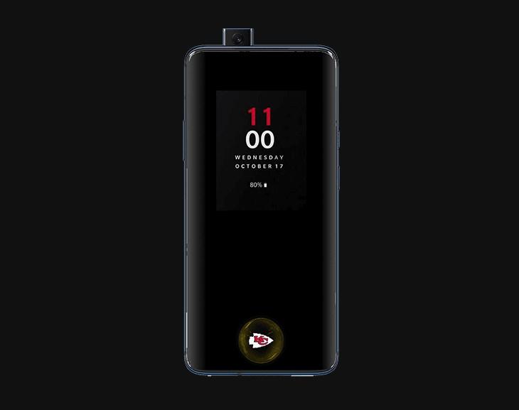 NFL logo OnePlus 7 Pro fingerprint sensor icon