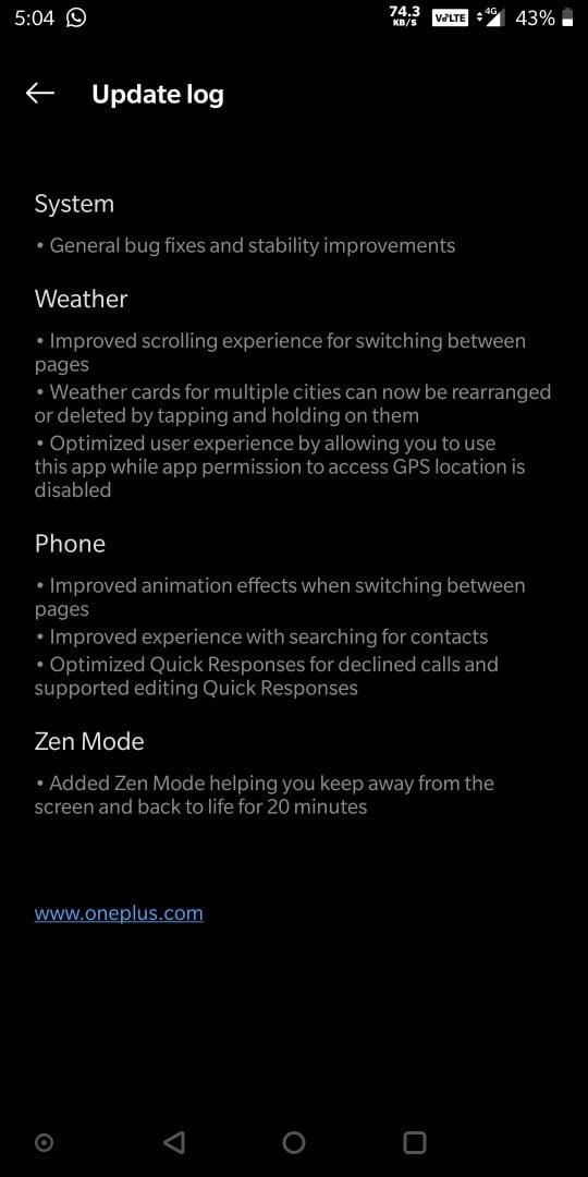 OnePlus 5 Open Beta 35