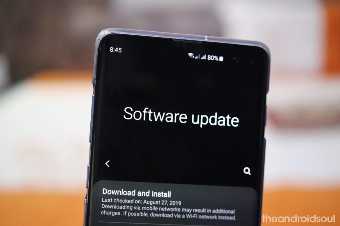 Install Latest Software Update