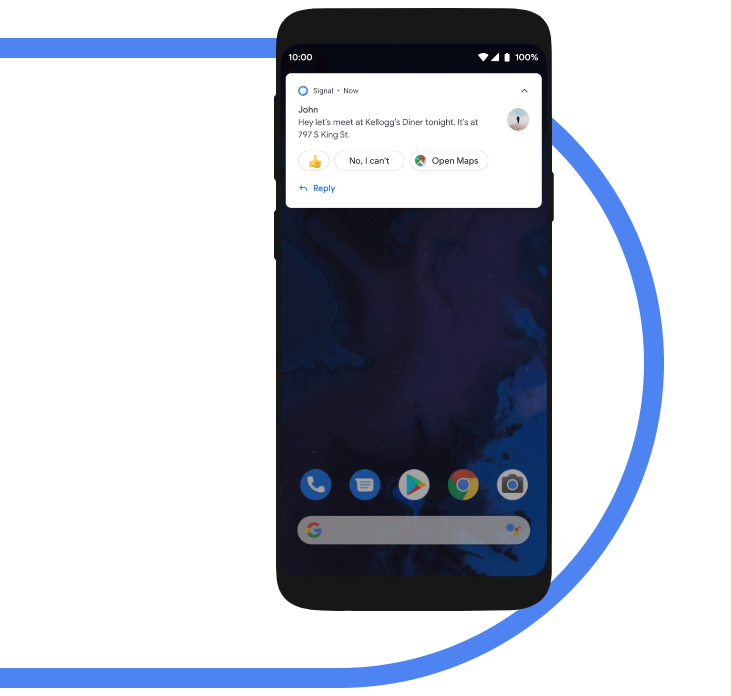 smart reply in Android 10